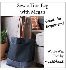 Megan Selby, Instructor 2019! 01/26: CLASS FULL Make a Tote Bag with Megan