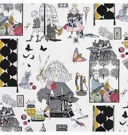Alexander Henry Fabrics The Ghastlies, A Ghastlie Craft in Natural, Fabric Half-Yards 8714A