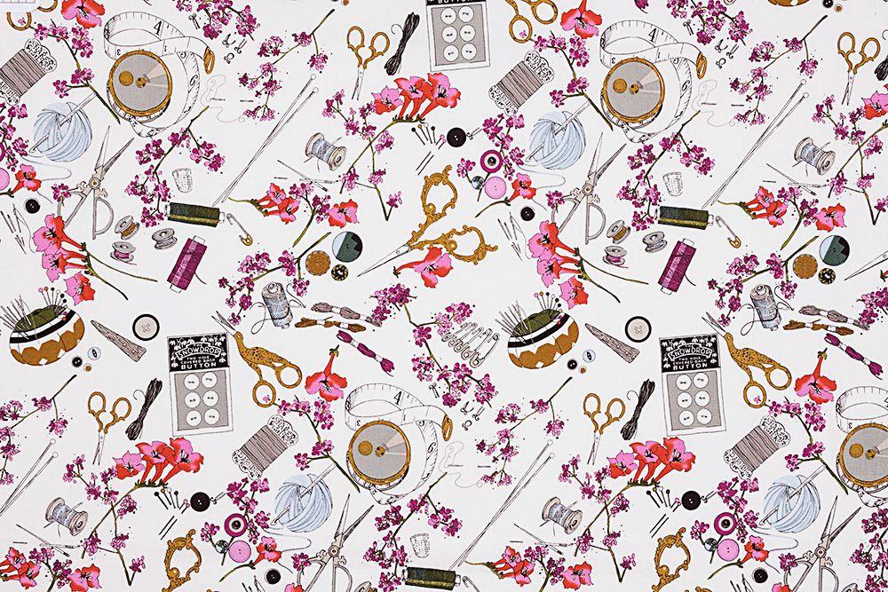 Alexander Henry Fabrics The Ghastlies, A Ghastlie Notion in Snapdragon, Fabric Half-Yards 8715B