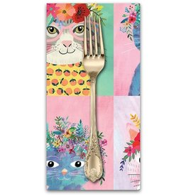 PD's Blend Fabrics Collection Floral Pets, Floral Kitty in Multi, Dinner Napkin
