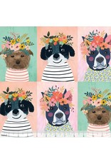 PD's Blend Fabrics Collection Floral Pets, Floral Puppy in Multi, Dinner Napkin