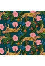 Elizabeth Grubaugh Into the Wild, King Cheetah in Navy, Fabric Half-Yards 126.104.01.1