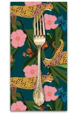 PD's Blend Fabrics Collection Into the Wild, King Cheetah in Navy, Dinner Napkin