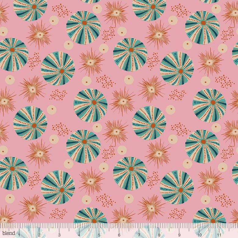 Elizabeth Grubaugh Aquarius, Reef in Pink, Fabric Half-Yards 126.105.02.1