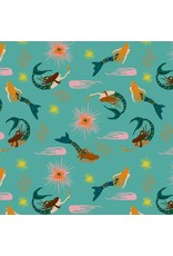 Elizabeth Grubaugh Aquarius, Calypso in Aqua, Fabric Half-Yards 126.105.01.1