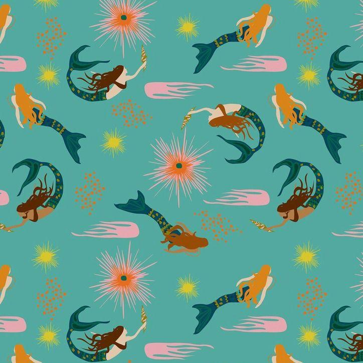 Elizabeth Grubaugh Aquarius, Calypso in Aqua, Fabric Half-Yards 126.105.01.1