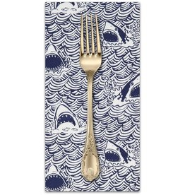 PD's Dear Stella Collection I Don't Give a Ship!, Dark and Stormy in Indigo, Dinner Napkin