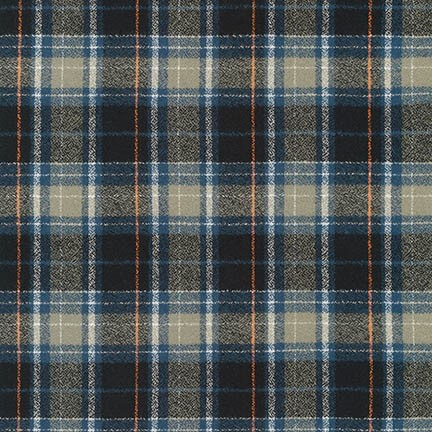 Robert Kaufman Yarn Dyed Cotton Flannel, Mammoth Flannel in Storm, Fabric Half-Yards SRKF-17601-300