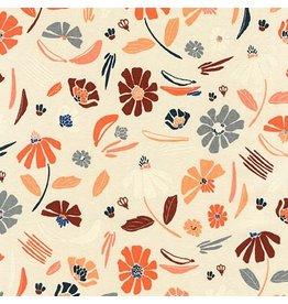 Anna Graham of Noodlehead Linen, Forage Essex, Prairie in Champagne, Fabric Half-Yards AFH-17981-154