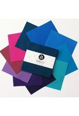"Pre-Cuts, WoolWerks ICE, Pre-Felted 100% Wool, 10 ea. 5""x5"" pieces"