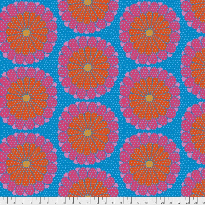 Kaffe Fassett Artisan, Kyoto in Red, Fabric Half-Yards PWKF008