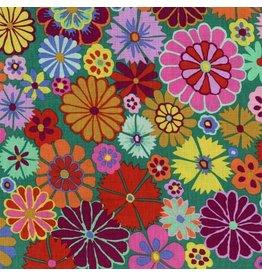 Kaffe Fassett Artisan, Folk Flower in Multi, Fabric Half-Yards PWKF007