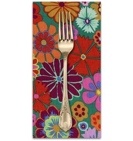 PD's Kaffe Fassett Collection Artisan, Folk Flower in Multi, Dinner Napkin