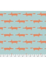 Free Spirit Dakarai, Mr Fox in Aqua, Fabric Half-Yards PWSC001