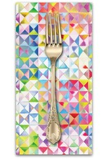 PD's Moda Collection Gradients, Triangles in Multi, Dinner Napkin