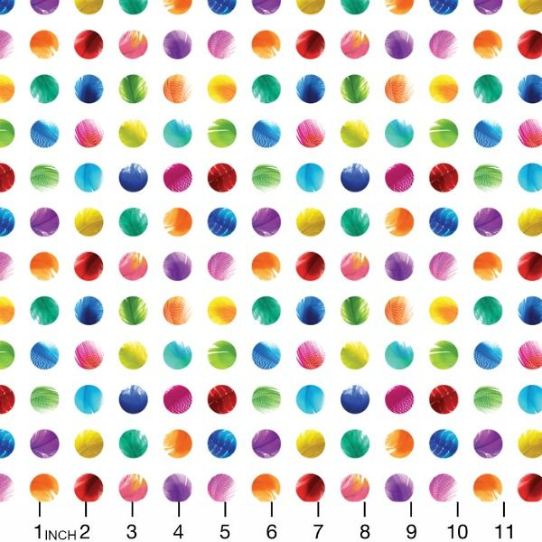 Moda Gradients, Circles in Multi, Fabric Half-Yards 33368 11D
