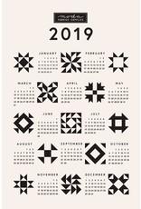 2019 Calendar Quilt Block Tea Towel