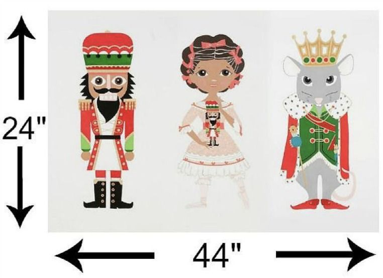 "Alexander Henry Fabrics Christmas Time, The Nutcracker, 24"" Fabric Panel"