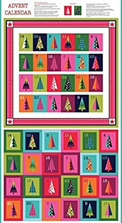Andover Fabrics Wrap It Up, Advent Calendar Panel, 24""