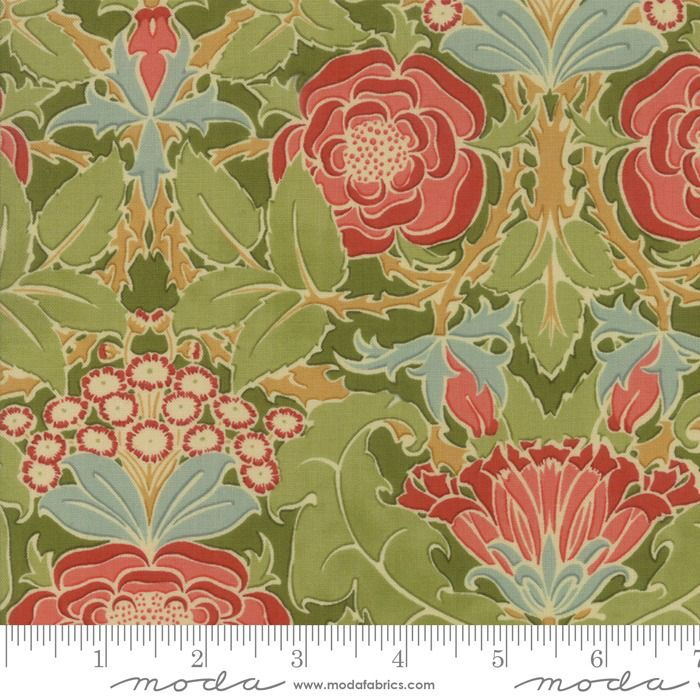 PD's Voysey Collection Voysey, The Xipon 1899 in Olive, Dinner Napkin