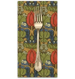 PD's Voysey Collection Voysey, The Owl 1897 in Indigo, Dinner Napkin