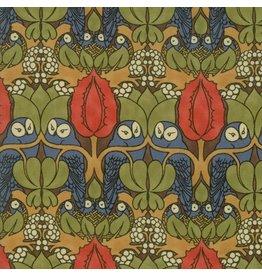 Voysey Voysey, The Owl 1897 in Indigo, Fabric Half-Yards 7321 12