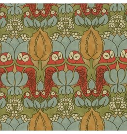 Voysey Voysey, The Owl 1897 in Russet, Fabric Half-Yards 7321 15