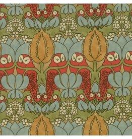 Voysey Voysey, The Owl 1897 in Russet, Fabric Half-Yards 7321 15