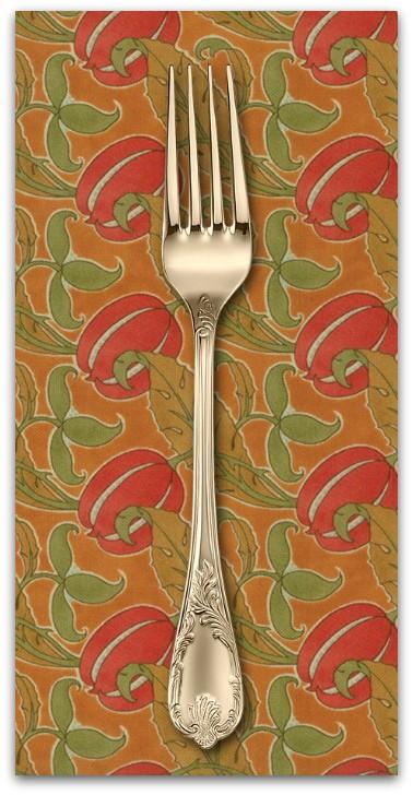 PD's Voysey Collection Voysey, The Gordon 1897 in Amber, Dinner Napkin
