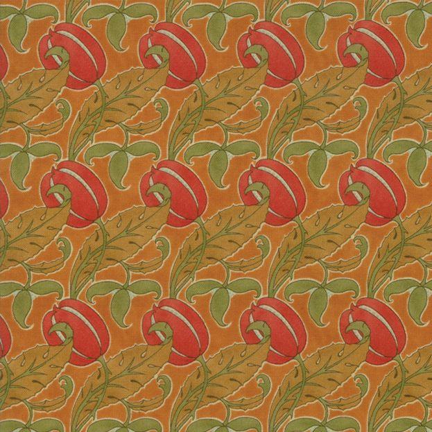 Voysey Voysey, The Gordon 1897 in Amber, Fabric Half-Yards 7324 16