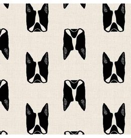Sarah Golden Cats and Dogs, Dogs in Black, Fabric Half-Yards A-8965-K