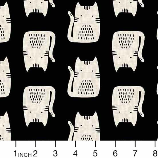 PD's Sarah Golden Collection Cats and Dogs, Cats in Black, Dinner Napkin