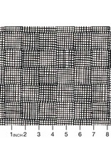 Sarah Golden Cats and Dogs, Grid in Black, Fabric Half-Yards A-8456-K