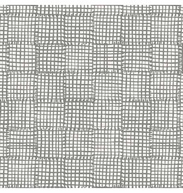 Sarah Golden Cats and Dogs, Grid in Grey, Fabric Half-Yards A-8456-C