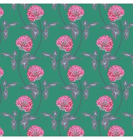 Anna Maria Horner English Summer, Leaning in Jade, Fabric Half-Yards PWAM004