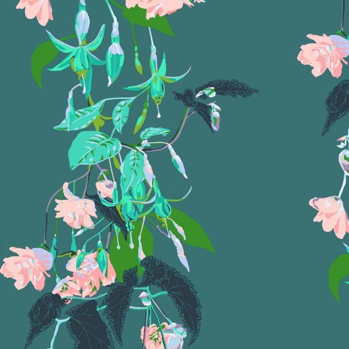 Anna Maria Horner English Summer, Name Drop in Tropical, Fabric Half-Yards PWAM003