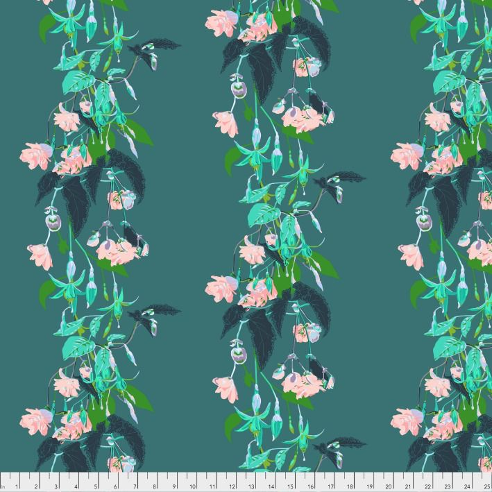 Anna Maria Horner English Summer, Name Drop in Tropical, Fabric Half-Yards PWAM003