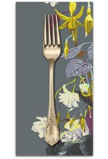 PD's Anna Maria Horner Collection English Summer, Name Drop in Pewter, Dinner Napkin