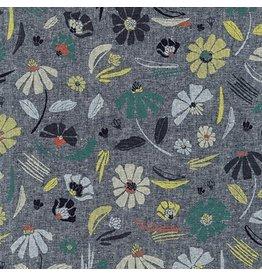 Anna Graham of Noodlehead Linen, Forage Yarn-Dyed Essex, Prairie in Indigo, Fabric Half-Yards AFH-17981-62
