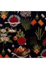 Alexander Henry Fabrics Folklorico, Viva Frida in Black, Fabric Half-Yards 1406CRR