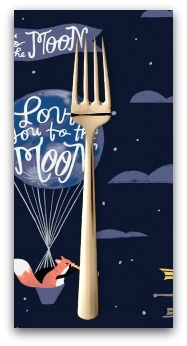 PD's Rae Ritchie Collection Love You to the Moon, Night Sky in Navy, Dinner Napkin