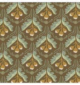 Rae Ritchie Black Forest, Acorns in Toffee, Fabric Half-Yards STELLA-SRR1162