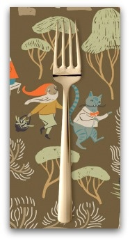 PD's Rae Ritchie Collection Black Forest, Dancing Cats in Toffee, Dinner Napkin