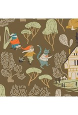 Rae Ritchie Black Forest, Dancing in Toffee, Fabric Half-Yards STELLA-SRR1155