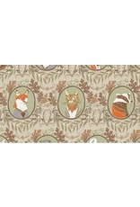 PD's Rae Ritchie Collection Black Forest, Fancy Animals in Wheat, Dinner Napkin