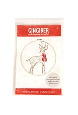 Gingiber Merriment Deer, Embroidery Sampler from Gingiber