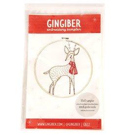 Gingiber Merriment Deer, Embroidery Sampler from Gingiber