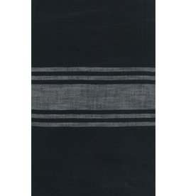 """Moda Woven Toweling, 16"""" wide, Urban Cottage Black with Grey Stripe"""