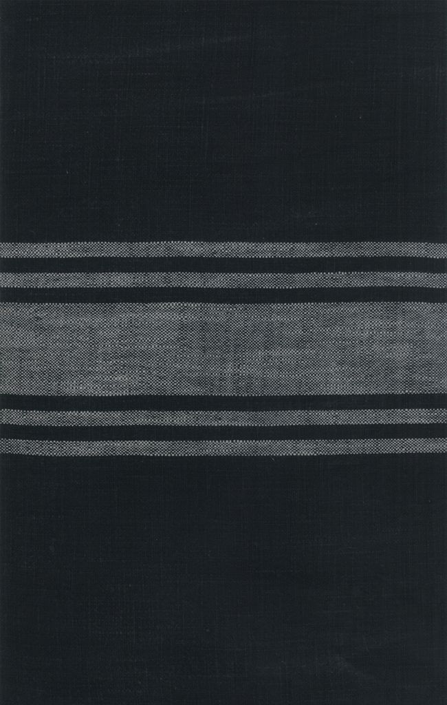 "Moda Woven Toweling, 16"" wide, Urban Cottage Black with Grey Stripe"