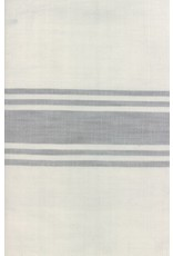 """Moda Woven Toweling, 16"""" wide, Urban Cottage Ivory with Grey Stripe"""